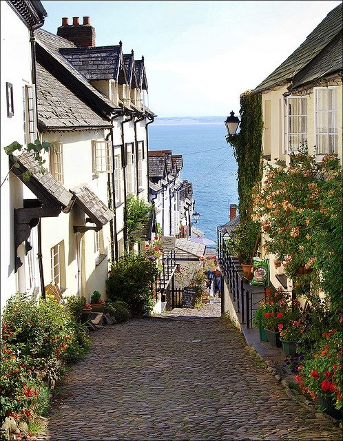 The beautiful village of Clovelly in Devon. Great walk down, hard walk up.