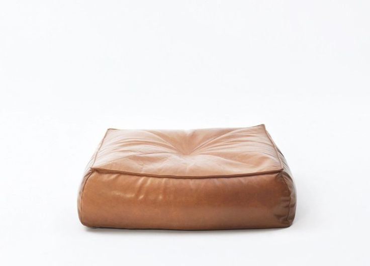 Alby Leather Floor Cushion | Jardan  @estemag #estliving #estdesigndirectory