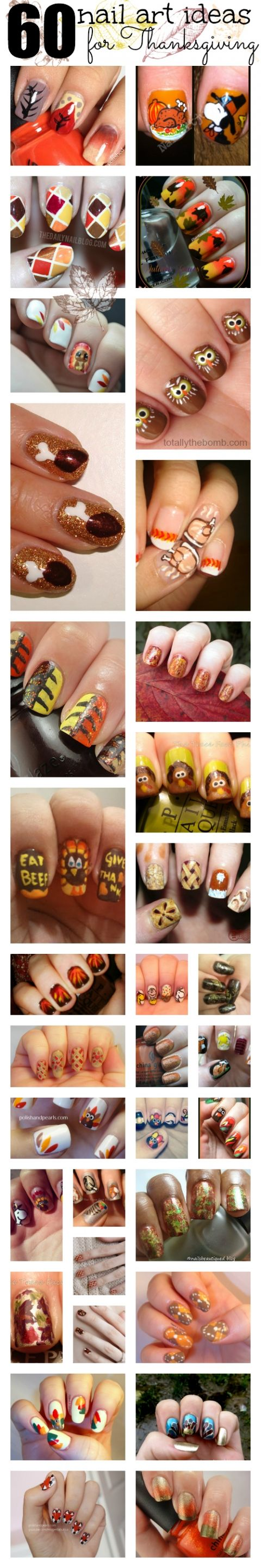 60 Thanksgiving Nail Art Ideas Round Up From Totally The Bomb.com