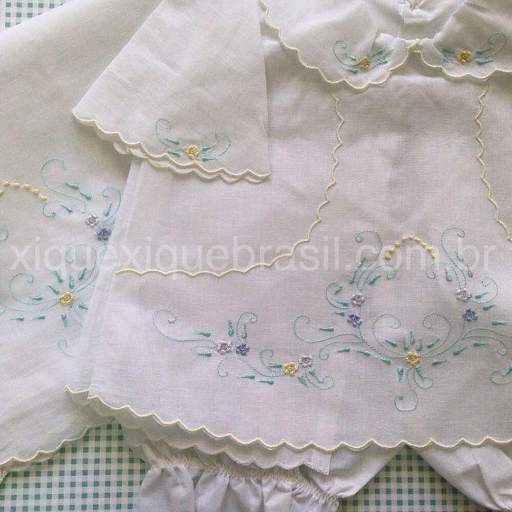 Conjunto de Pagão Bordado. Compre online xiquexiquebrasil.com.br.