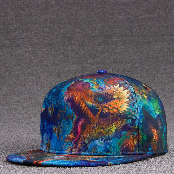 3D Printed Dragon Snapback Caps Adult Hiphop Dance Headwear Men Cool Skateboard Hat Women Fashion Baseball Cap #Affiliate