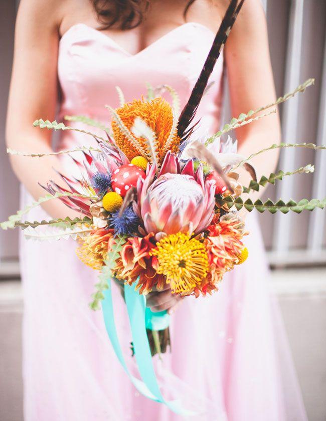 vibrant native bouquet