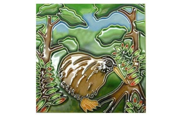 Paua World - Kiwi and Trees Ceramic Tile, $17.50 (http://www.pauaworld.com/kiwi-and-trees-ceramic-tile/)