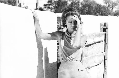Romy Schneider on the set of 10:30 P.M. Summer (1966). Photo by Giancarlo Botti
