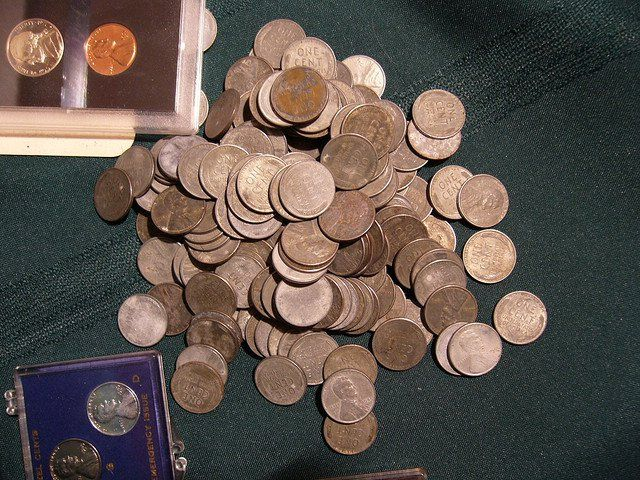 Five coins you should be looking for right now!  All wheat-back Lincoln cents (Before 1959)  All nickels before 1960  Any dimes and quarters before 1965 (these are silver)  All half dollars before 1971 (these are silver)  Any coins that appear to have mistakes — such as doubled dates, doubled images, or missing parts of the design