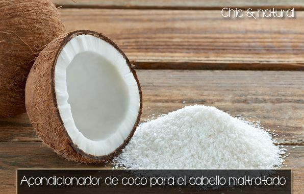 Chic & Natural: Acondicionador profundo de coco para el cabello maltratado