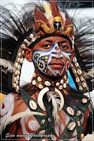 Indonesia potrait Papua etnic.....Jayapura - Papua