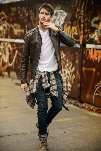 (Outfits) Plaid Flannel is a great look for the cooler weather. Pair with work boots for the outdoors or a tie for the office.