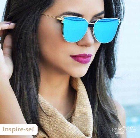 Chegaram modelos novos de óculos de sol meninas <3 Vários opções... Borá garantir o seu!!! #NovaColeção #Novidades Óculos flat com lente espelhada azul... um arraso!!! Informações: inbox ou whats (41)99591-5304