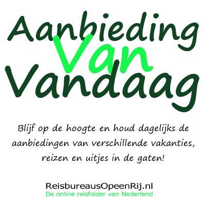 Aanbiedingen van de dag van verschillende aanbieders vind je op www.reisbureausopeenrij.nl/actie-van-de-dag
