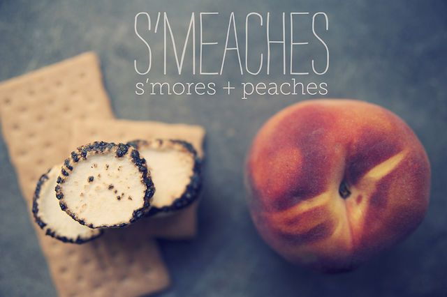 S'Meaches by Claire Thomas. S'Mores + peaches = S'Meaches. Gooey, sticky, crunchy, spicy, peachy.