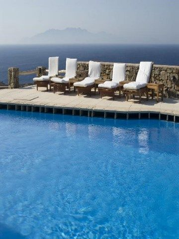 Refreshing pool get ready to cool off in estate mykonos for sale