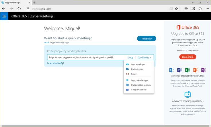 Microsoft, Skype'ın özellikle küçük işletmelere odaklandığı 'Skype Meetings' ismini verdiği yeni versiyonunu yayınladı. Tarayıcı tabanlı olan Skype Meetings'i ücretsiz olarak kullanılabilecek. #İşCep #AnındaBankacılık #teknoloji #technology #digital #dijital  #teknolojitasarım #teknolojiicatları #teknolojiürünleri #skype #microsoft #SkypeMeetings