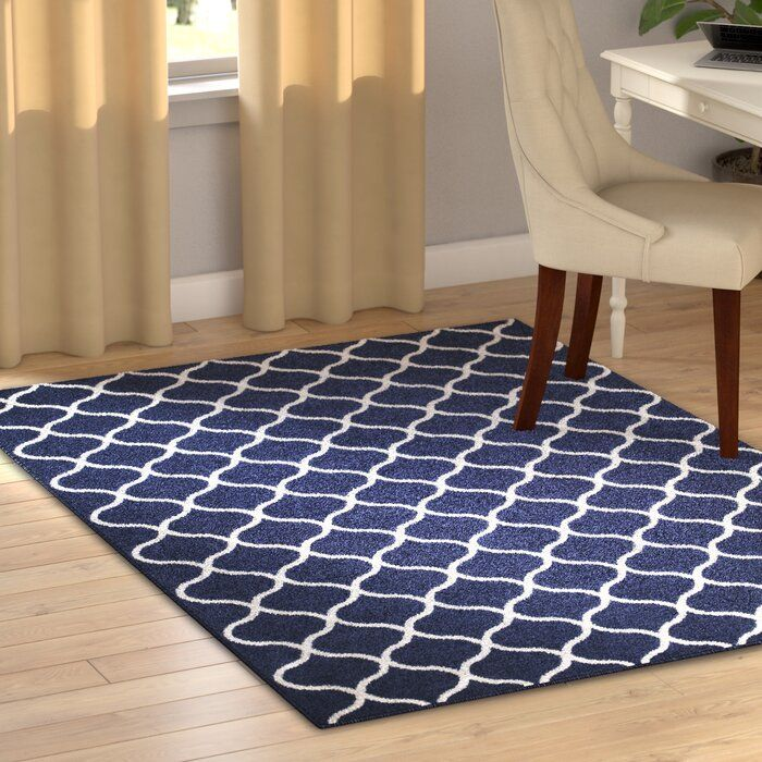 Hershman Geometric Tufted Blue White Area Rug With Images White Area Rug Area Rugs Indoor Area Rugs