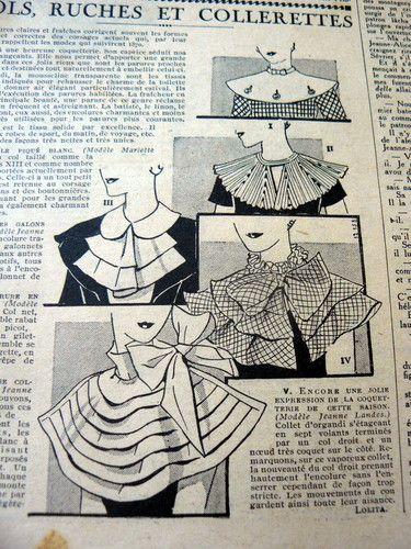 Le Petit Echo de La Mode 1934 | Collars