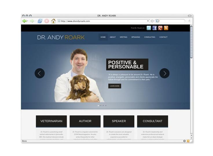 Web site design © Think Baseline, for Dr. Andy Roark #website #graphic #design  http://www.drandyroark.com/