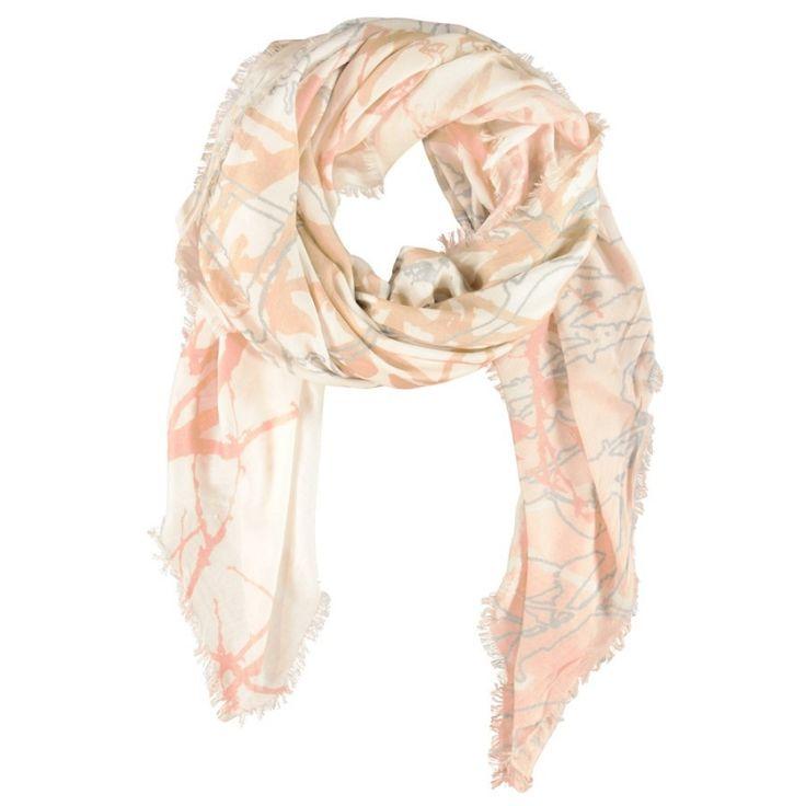 Beige vierkante sjaal van modal