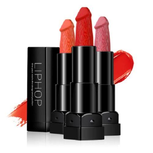 Liphop Dyes Penis Shape  Pencil  Lipstick Long Lasting Moisture Lips Makeup Mate #LiphopDyesCnina