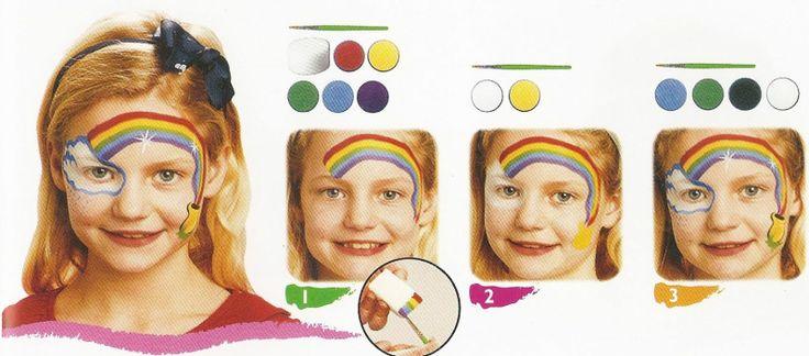 Maquillage fille arc en ciel carnaval gouter anniversaire id es maquillages enfants et - Maquillage chat fille ...