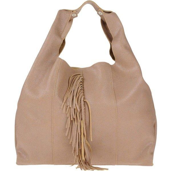 Roberta Gandolfi Handbag ($189) ❤ liked on Polyvore featuring bags, handbags, light brown, handbag purse, beige handbags, leather tote shopper, hand bags and leather man bags