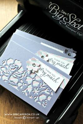 DIE CUT ENVELOPES + DETAILED FLORAL THINLITS DIES BY STAMPIN UP