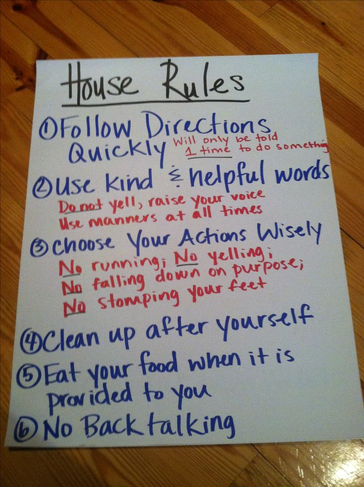 Indispensable Kid Rules Every Parent Should Follow House Rules poster