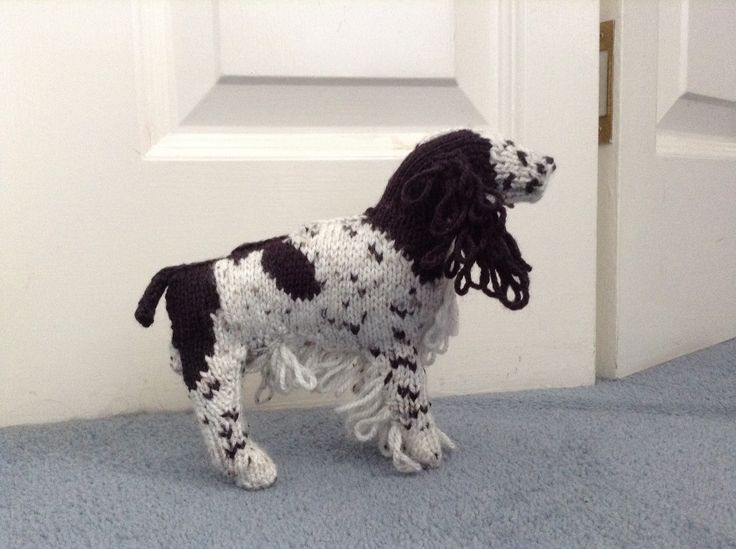 Knitted springer spaniel from Knit Your Own Dog