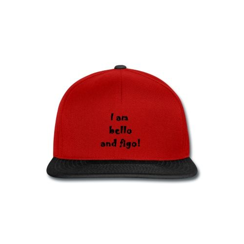 Snapback Cap  16,49 € #chepakko #design #sayitwithatshirt  #italian #word #sayng #citazioni #bellofigo #cool #fashion  #funny  #idea #snapback #cap #unisex #lookvintage #baseball #red #black