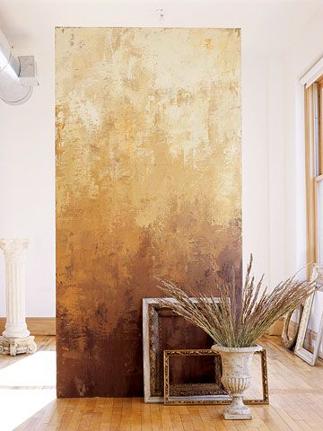 THIS. Most surely, most definitely. DIY Fake Centuries of Wear: Trowel on thin layers of paint to create the timeworn look of aged Venetian plaster in minutes instead of centuries.