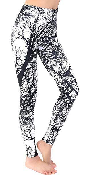 d3dbce4170776 Ndoobiy Printed Leggings Basic Cheap Patterned Leggings Yoga Workout  Leggings for Women Girls Spandex Leggings L2(Trunk OS)