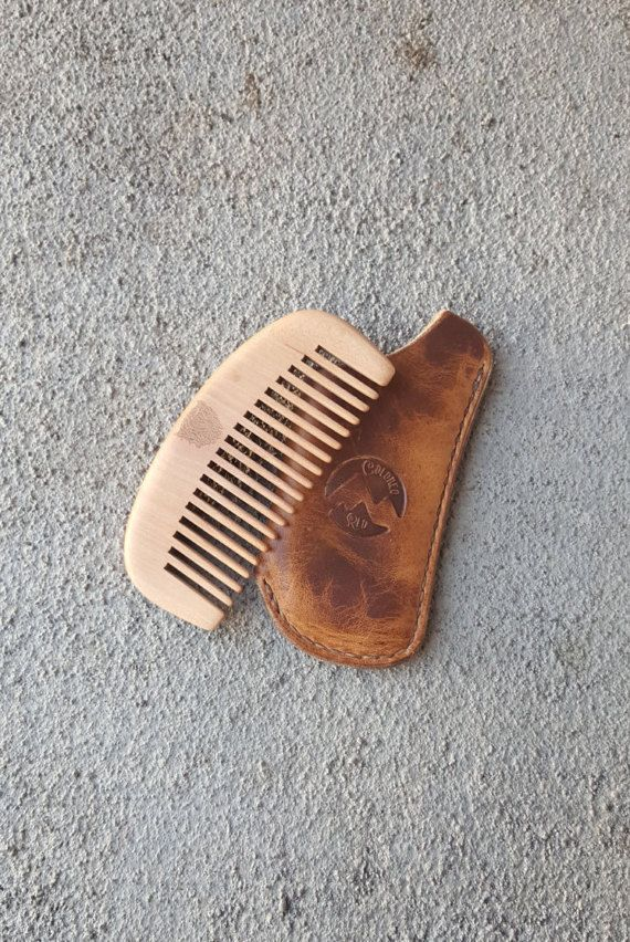 Beard Comb  Men's Comb  Leather Comb Cover  Made To