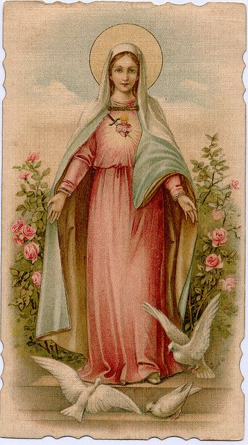 Our Lady holy card