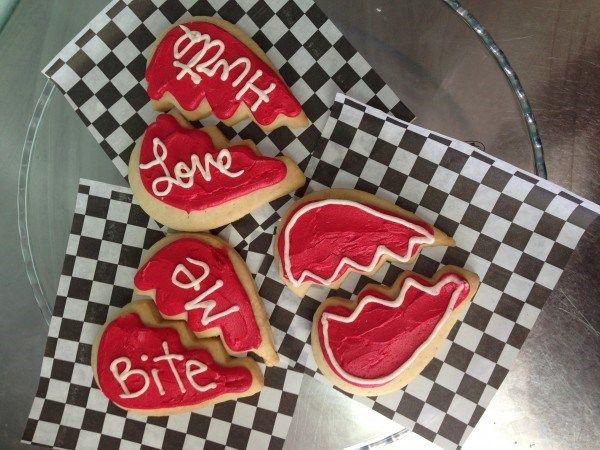 Anti-Valentine's Day Broken Heart Cookies