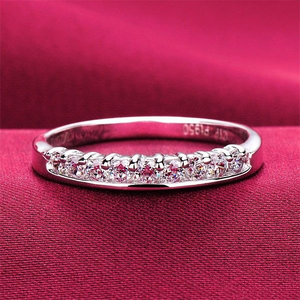 4296f4589daf4 0.3 Carat x 9 Simulated Diamond Engagement/Wedding/Promise Ring For ...