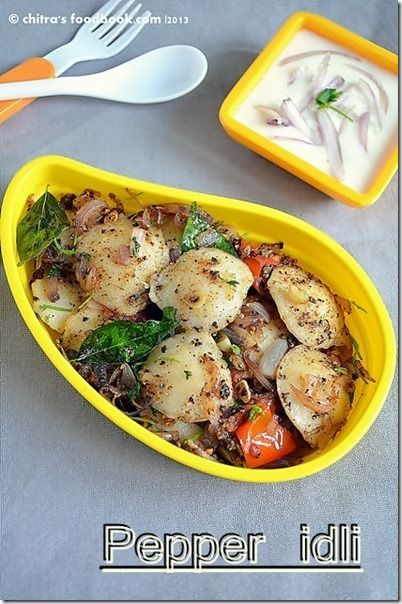 Chitra's Food Book: PEPPER IDLI