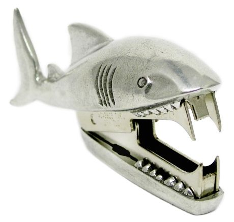 Shark Bite Staple Remover - appropriate since I have always called mine a shark anyway, even to people who don't know what I am talking about
