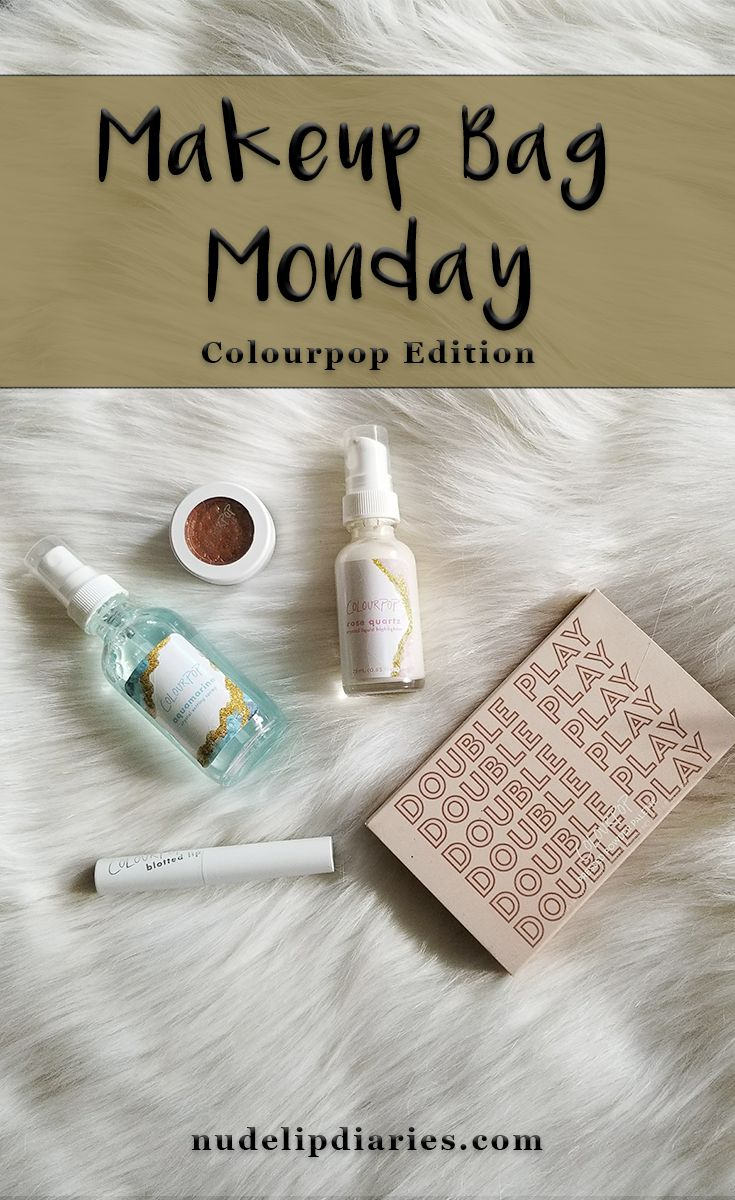 Makeup Bag Monday #5 - Colourpop Edition || Recently I've introduced a new blog series - Makeup Bag Monday. I've been loving watching and reading other bloggers posts and videos so I wanted to try it out for myself. Each week I put … || #bblogger #beautyblog #beautyblogger #colourpop #colourpopcult #colourpopme #liquidhighlighter #settingspray #lipstick #eyeshadow #facepowder