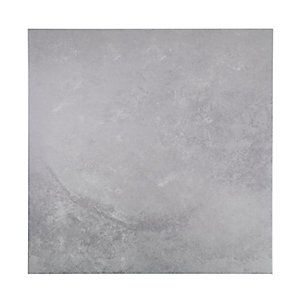 wickes cement grey glazed porcelain floor tile 600x600mm per sqm