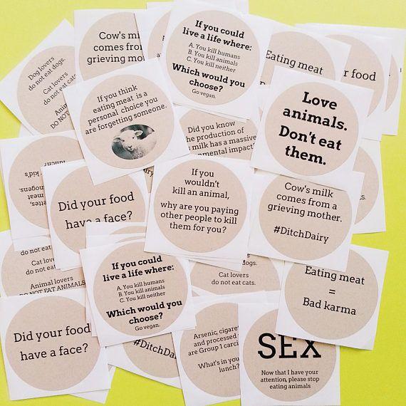 Variety pack 50 vegan activism stickers