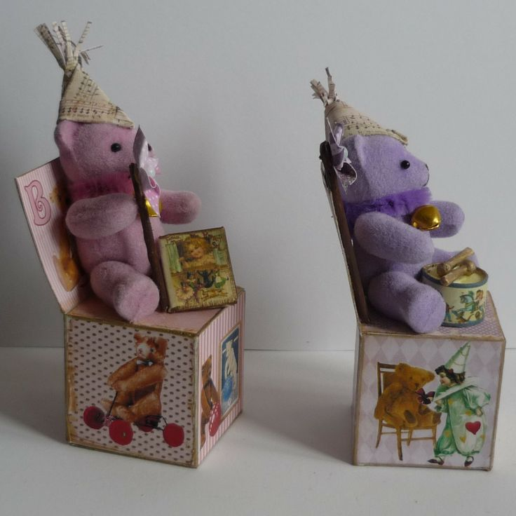 Wood Cube -Bear and Little Items