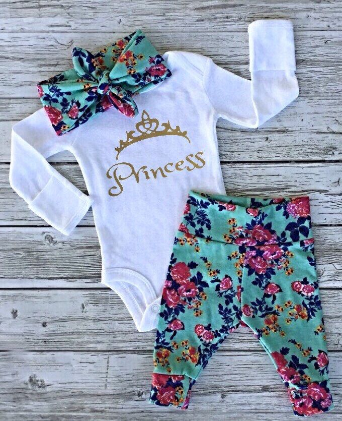 A personal favorite from my Etsy shop https://www.etsy.com/ca/listing/476185941/baby-girl-coming-home-outfit-baby-girl