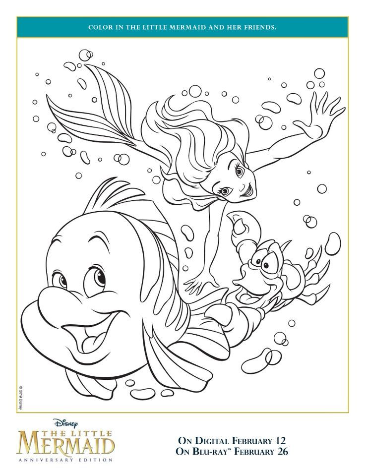 Free Printable Ariel And Friends Coloring Page From Disney The Little Mermaid Ariel Sebast Ariel Coloring Pages Mermaid Coloring Pages Mermaid Coloring Book
