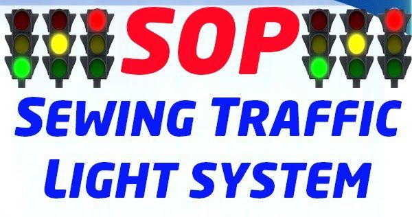 Sewing Traffic Light System Sop Traffic Light Standard