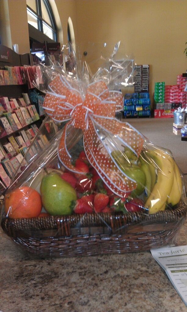 Fruit baskets make a great get well gift!