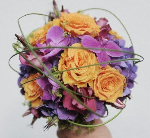 Brautstrauss pink, orange, lila  Blumen zur Hochzeit Bridal ...
