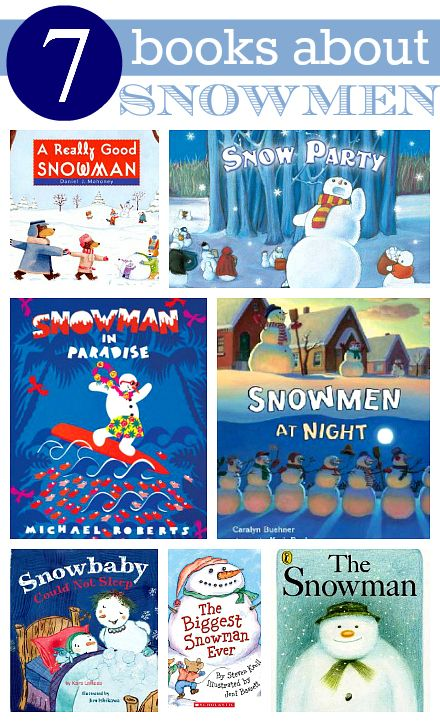 Loving this! Snowman books - great winter books for preschool and the child in you! #elearn #edu #books