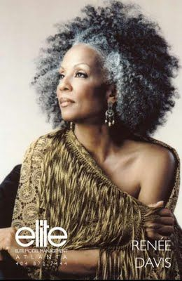 Gray Natural Hair......just beautiful!  I would love to see my mom rock this style.