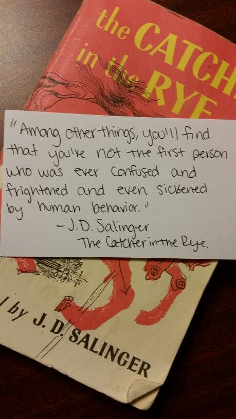 The Catcher in the Rye quote. #Holden #Caulfield #Salinger