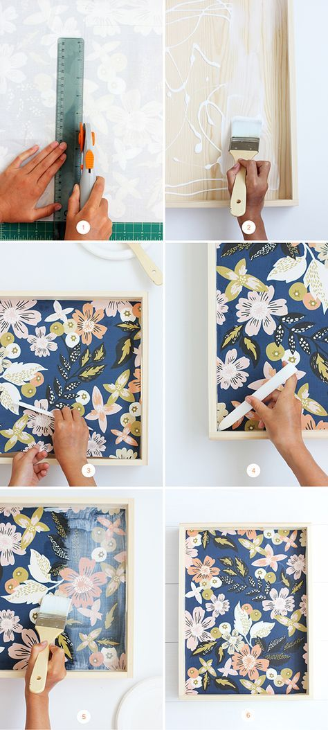 DIY Fabric Lined Wood Tray Tutorial | alice & lois for minted