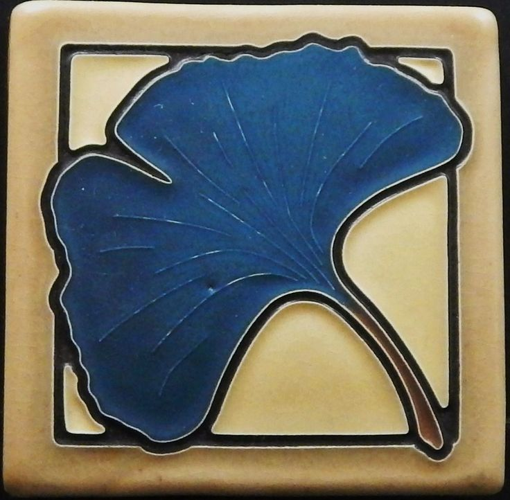 Arts and Crafts Gingko Tile by Arts and Craftsman Tileworks A951